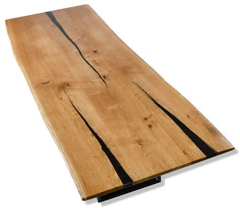 resin void fill oak slab dining table by frances bradley
