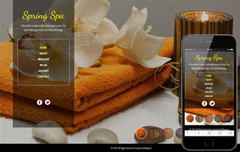 Spa Salon A Beauty And Spa Flat Bootstrap Responsive Web Template Free Spa Website Templates