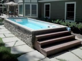 Backyard Pools And Spas Decks For Swim Spas Studio Design Gallery Best Design