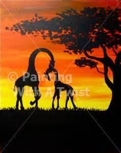 paint with a twist tallahassee twists giraffe painting and paintings on