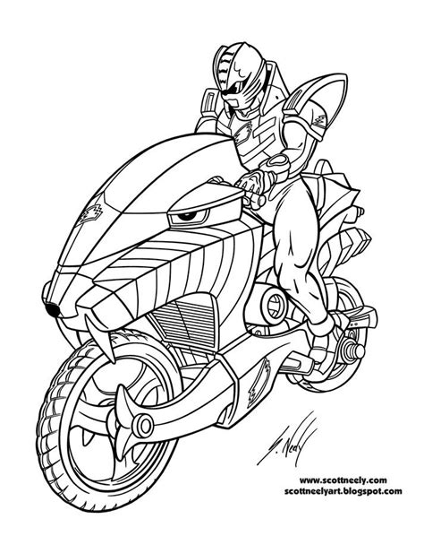 coloring pages of power rangers jungle fury the cool motorcycle of power rangers jungle fury coloring