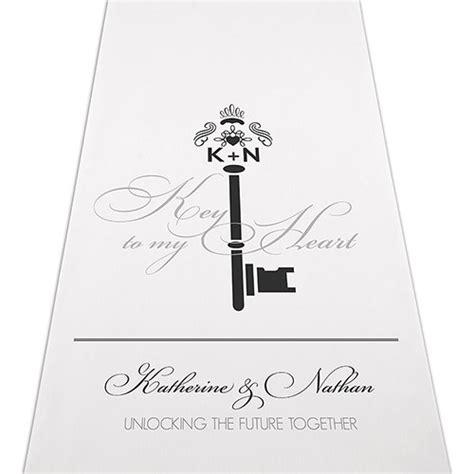 signature wedding aisle runners key monogram personalised aisle runner confetti co uk
