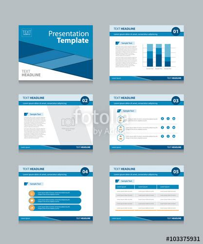 Quot Business Presentation Template Set Powerpoint Template Design Backgrounds Quot Fichier Vectoriel Buy Presentation Templates