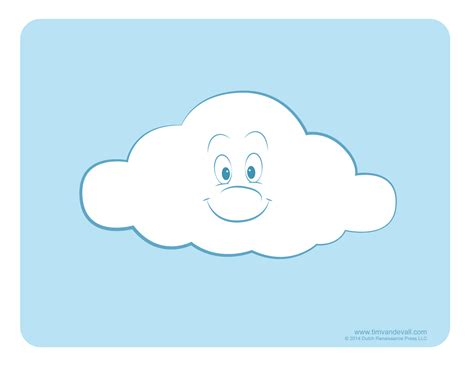 free clouds template for card weather clipart for