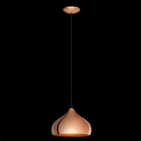 eglo pendant light eglo 49449 hapton 1 light ceiling pendant copper