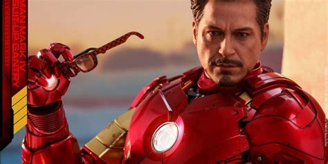 iron man dom iron man mark iv with suit up gantry figure coming soon