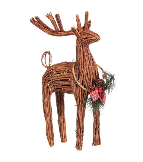 wicker reindeer cheer standing rattan reindeer jo