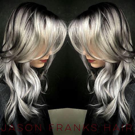 silver blonde root shadow hair ideas pinterest grey hair chrome hair winter fall 2015 2016 hair color