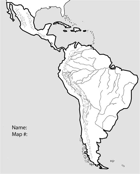 Latin America Blank Map by Unit 3 Mr Reid Geography For Life