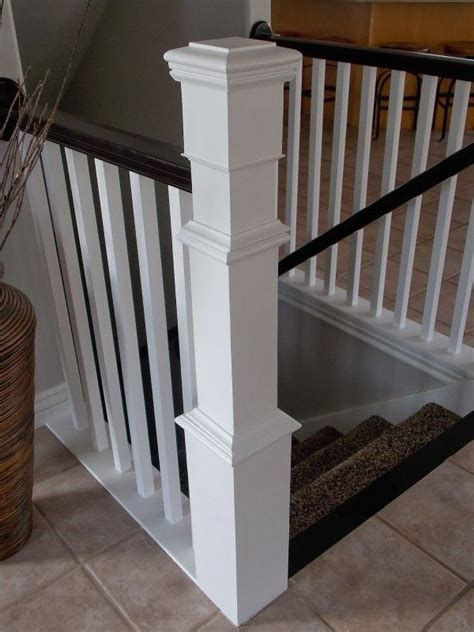 build  newel post   existing banister