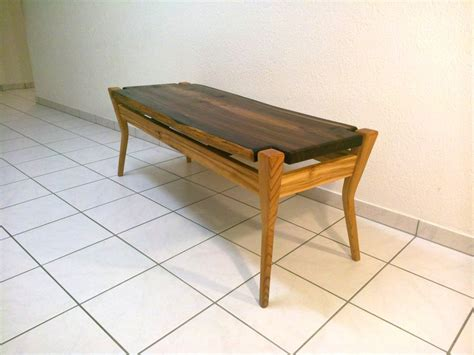sold edge smoked larch floating top coffee table