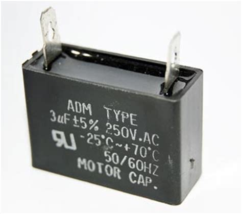 250vac capacitor 3uf 250vac motor capacitor polyester adm250a305j west florida components