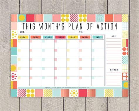 Printable Weekly Planner Retro | monthly planner printable diy organiser mid by