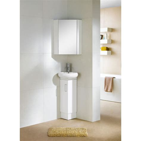 Small Corner Bathroom Vanities Fixtures Milan Wood White Small Corner Bathroom Vanity Ebay