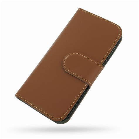 For Iphone 5 5s Flip Wallet Cover Leather Brown Black iphone 5 5s leather flip cover brown pdair