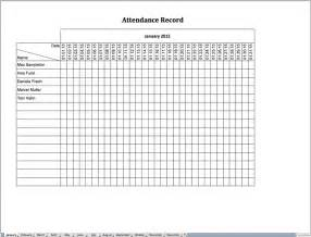 attendance record template attendance record excel templates for every purpose