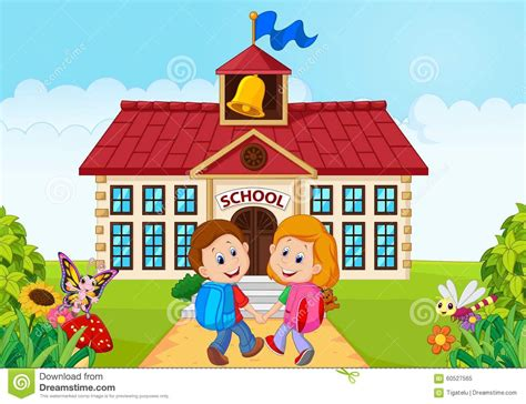 happy going to school stock vector image