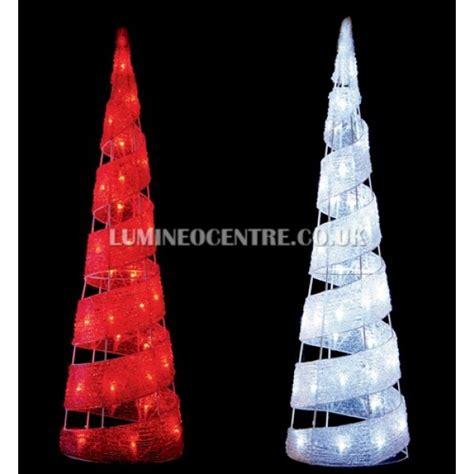 lumineo led glass pinecone premier 70cm 40 led acrylic cone