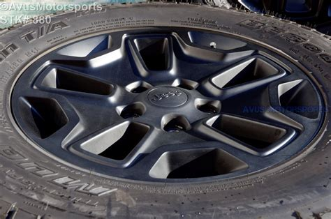 factory jeep wrangler wheels 2014 jeep wrangler rubicon oem factory 17 quot wheels tires