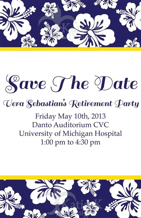 Retirement Save The Date Template Pin By Stephanie Fulcher On Cards Pinterest