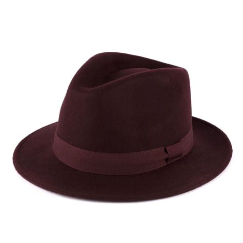 Handmade Mens Hats - mens fedora hat 100 wool felt made in italy