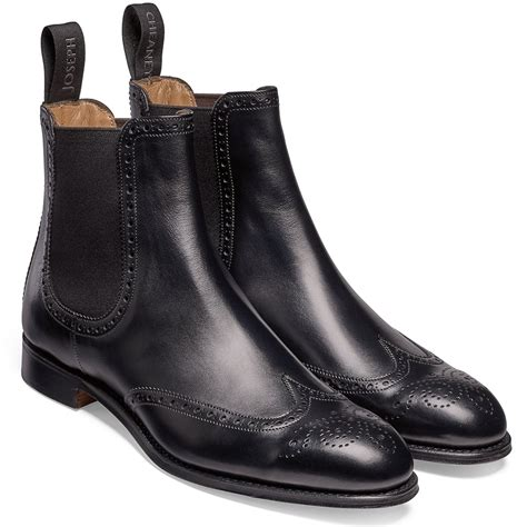 Brogue Chelsea Boots cheaney black chelsea boots made in