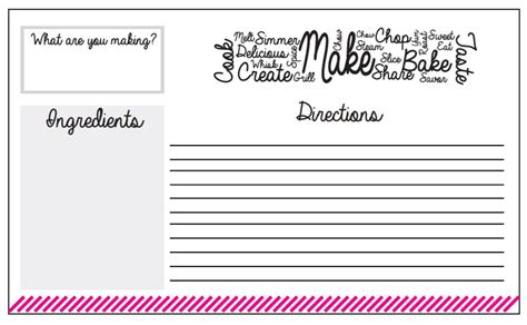 how to make your own recipe cards crafts with recipe cards