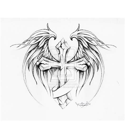 gothic wings tattoos designs images gothic cross gothic cross tattoo drawing and wings