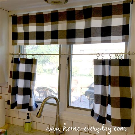 Black And White Kitchen Curtains by Buffalo Check Is My New Obsession Or How I Made No Sew