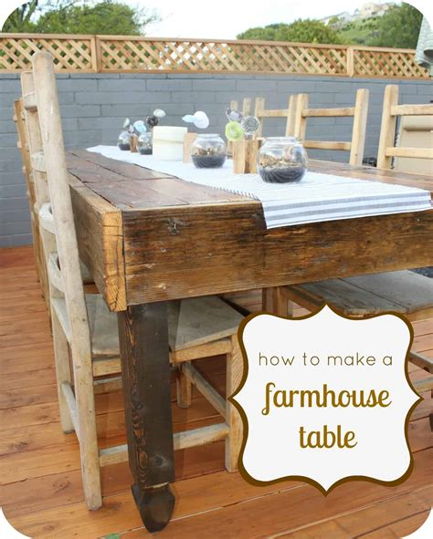 how to a rustic table how to a rustic farmhouse table