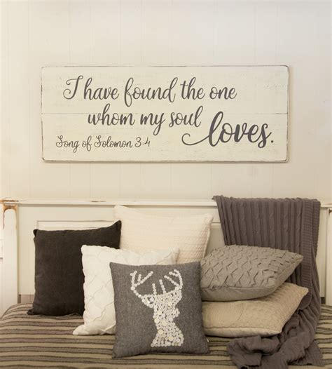 words for the wall home decor bedroom wall decor wood sign song of solomon 3 4 i