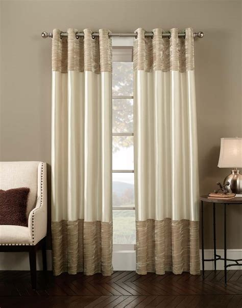 curtains on wall living room alluring living room decoration using cream