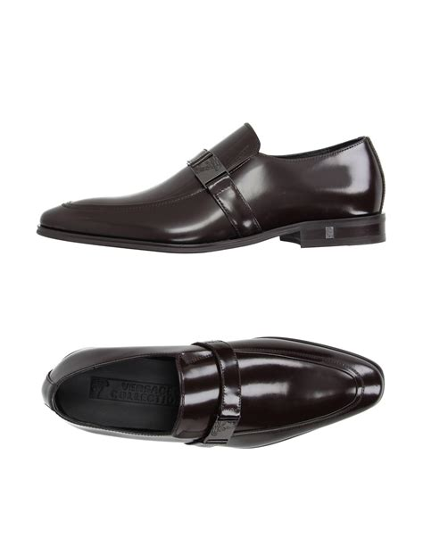 versace loafers for versace loafer in brown for lyst
