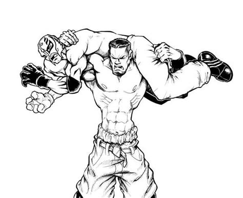 wrestling wwe coloring pages free and printable