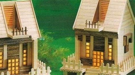 Lemari Es Krim Walls ide miniatur rumah dari stik es krim yang gang