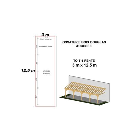 Charpente En Kit 2911 by Ossature Bois Charpente Mono Pente Adoss 233 E Prix Usine