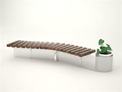 s shaped bench s shape bench 3d model