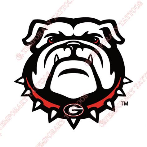 georgia bulldog tattoos bulldogs temp tattoos customize temporary