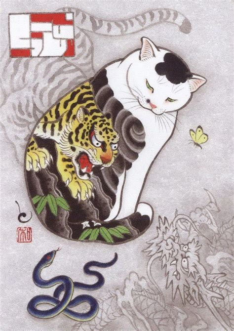 japanese cat tattoo best 20 lucky cat ideas on