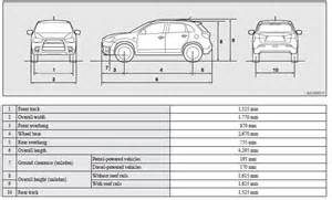 Mitsubishi Outlander Dimensions Vehicle Dimensions Specifications Mitsubishi Asx Owner