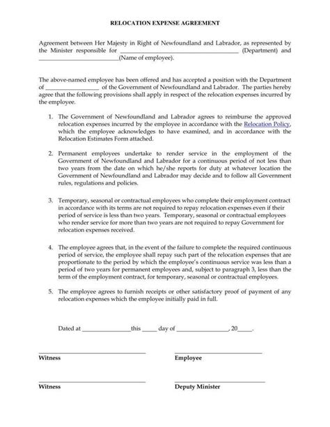 12 Relocation Agreement Templates Pdf Free Premium Templates Moving Agreement Template