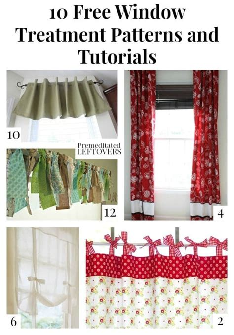 Window Treatment Patterns by 10 Free Window Treatment Patterns And Tutorials