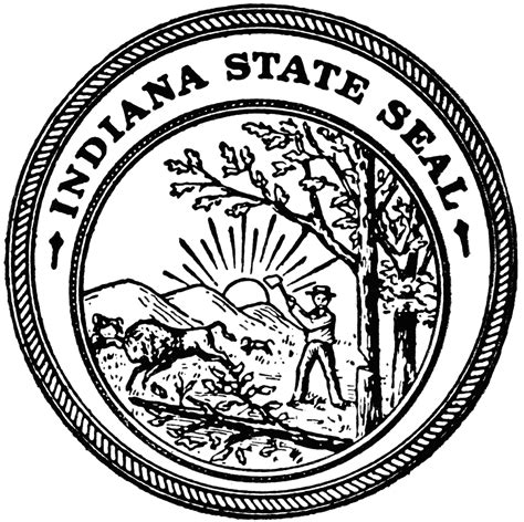 indiana university coloring page state seal free coloring pages