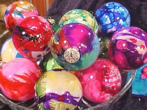 how to make airbrushed glass ornaments hgtv
