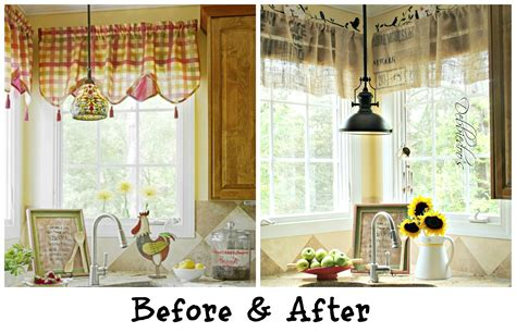 kitchen curtains and valances ideas diy no sew burlap kitchen valances made from coffee bags