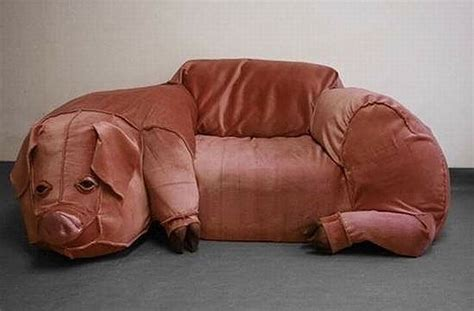weird couch strange farm furniture cool couch looks like a giant pig