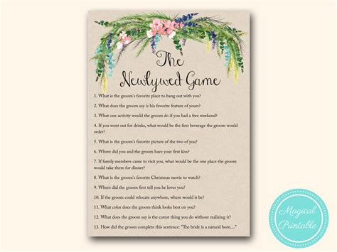 Luau Hawaiian Bridal Shower Games   Magical Printable