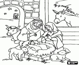 holy family nativity coloring page coloring pages
