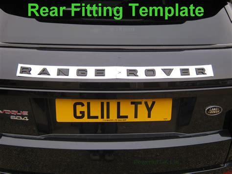 Titanium Silver Rear Lettering Range Rover Evoque Letters Font Text Tailgate Range Rover Sport Lettering Template