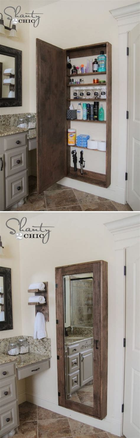 bathroom mirror with hidden storage 20 clever hidden storage ideas hative